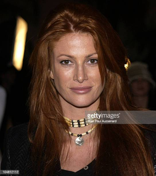 Angie Everhart during Launch Party for Xbox Live Arrivals at Peek at The Sunset Room in Hollywood California United States