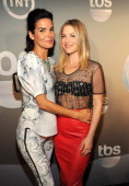 Angie Harmon and Ali Larter attend the TBS / TNT Upfront 2014 at The Theater at Madison Square Garden on May 14 2014 in New York City...