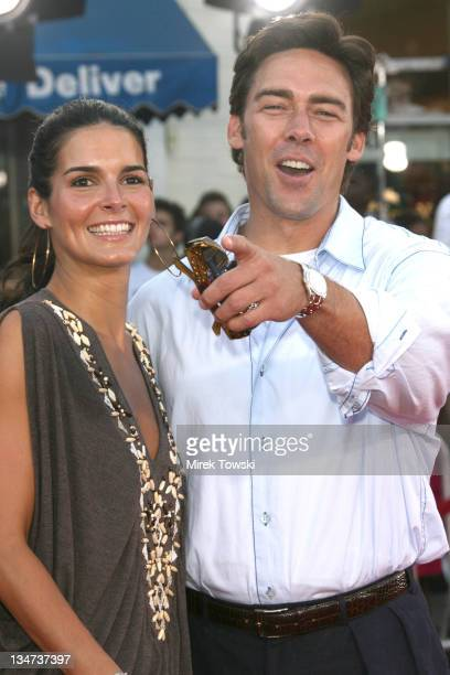 Angie Harmon and her husband Jason Sehorn during 'Miami Vice' Los Angeles World Premiere at Mann Village Theatre in Westwood California United States