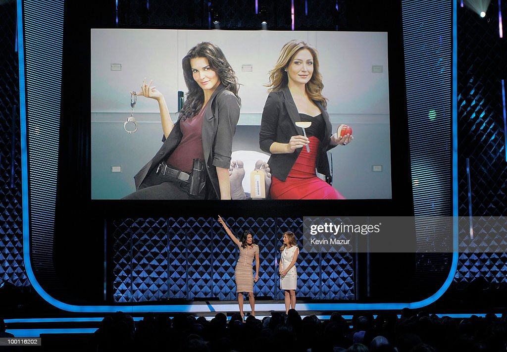 Angie Harmon and Sasha Alexander speak at the TEN Upfront presentation at Hammerstein Ballroom on May 19, 2010 in New York City. 19688_001_0927.JPG