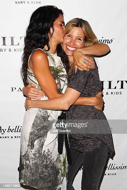 Angie Harmon and Wendy Bellissimo arrive at Gilt Baby and Kids celebrates Wendy Bellissimo collection launch at Palihouse Holloway on June 19 2012 in...