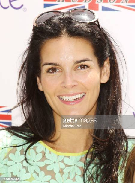 Angie Harmon arrives at the 7th Annual Kidstock Music and Art Festival held at Greystone Mansion on June 2 2013 in Beverly Hills California