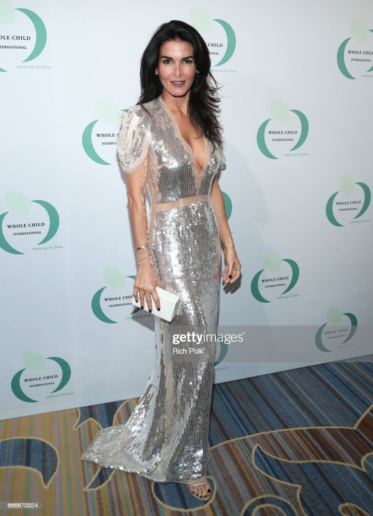 Angie Harmon at the Whole Child International's Inaugural Gala in Los Angeles hosted by The Earl and Countess Spencer at Regent Beverly Wilshire Hotel on October 26, 2017 in Beverly Hills, California.