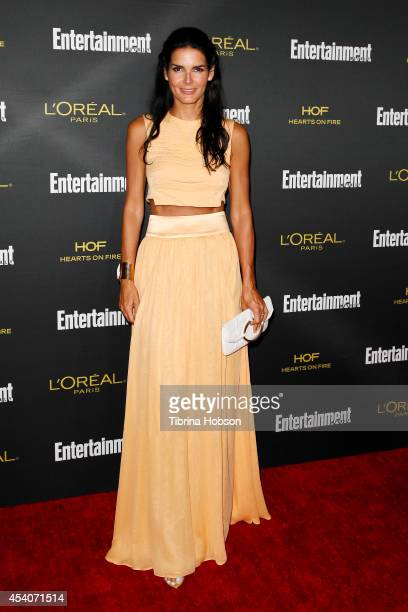 Angie Harmon attends Entertainment Weekly's PreEmmy party at Fig Olive Melrose Place on August 23 2014 in West Hollywood California