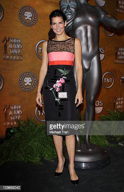 Angie Harmon attends the 17th Annual Screen Actors Guild Awards nominations announcement held at Pacific Design Center on December 16 2010 in West...