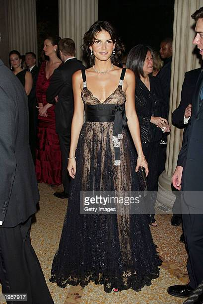 Angie Harmon attends the Costume Institute Benefit Gala sponsored by Gucci April 28 2003 at The Metropolitan Museum of Art in New York City