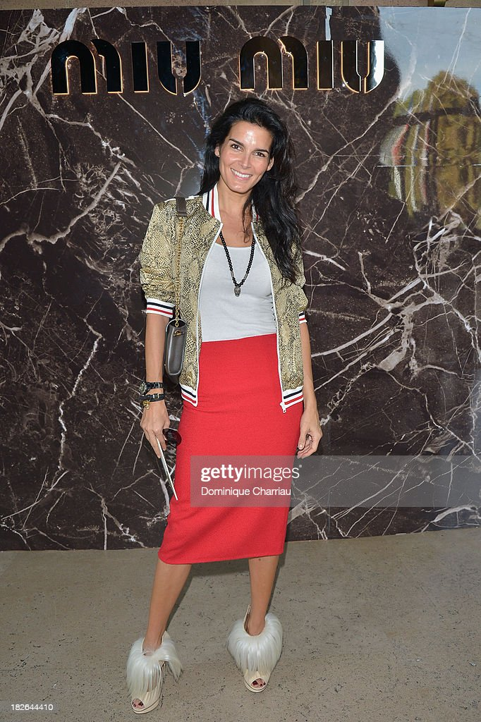 Angie Harmon attends the Miu Miu show as part of the Paris Fashion Week Womenswear Spring/Summer 2014 on October 2 2013 in Paris France