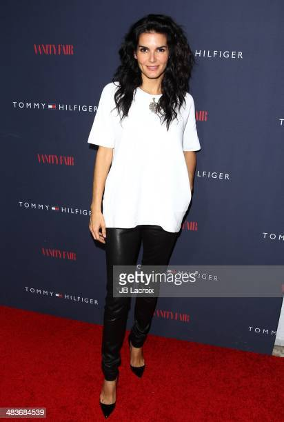 Angie Harmon attends the Zooey Deschanel for Tommy Hilfiger Collection launch event at The London Hotel on April 9 2014 in West Hollywood California