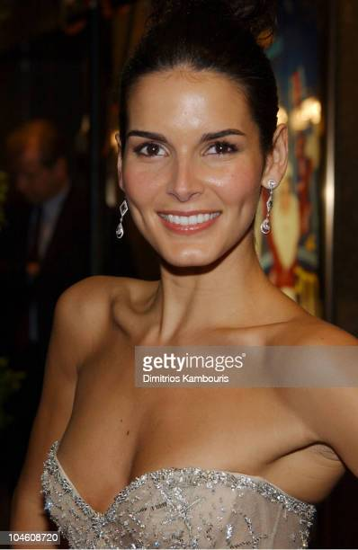 Angie Harmon during 2002 VH1 Vogue Fashion Awards Arrivals at Radio City Music Hall in New York City New York United States