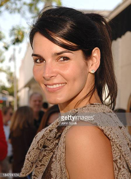 Angie Harmon during 5th Annual John Varvatos Stuart House Benefit Presented by Converse at John Varvatos Boutique in Los Angeles California United...