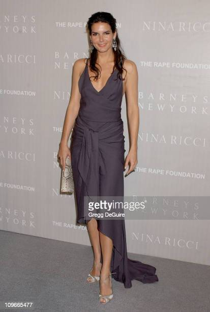 Angie Harmon during Barneys New York Hosts Gala Dinner and Nina Ricci Fashion Show to Benefit The Rape Foundation Arrivals at Barneys New York in...