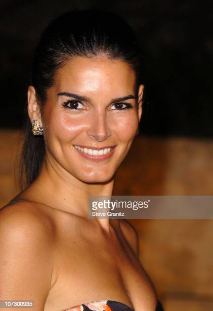 Angie Harmon during Dior and EIF's Women's Cancer Research Fund Celebrate the Launch of Dior Christal at the Getty Center in Los Angeles California...