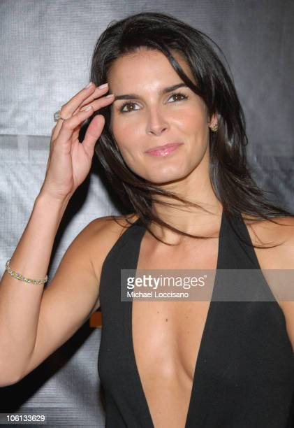 Angie Harmon during Donna Karan 'Gold' Fragrance Collection Launch at Donna Karan Flagship on Madison in New York City New York United States