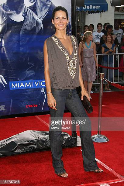 Angie Harmon during 'Miami Vice' Los Angeles World Premiere at Mann Village Theatre in Westwood California United States