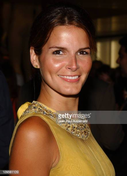 Angie Harmon during Prada Opens Beverly Hills Epicenter Arrivals at Rodeo Drive in Beverly Hills California United States
