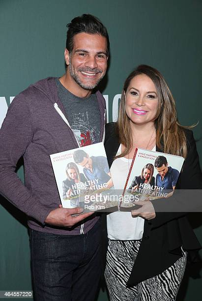 Angie Martinez and Angelo Sosa promote their new cookbook 'Healthy Latin Eating' at Barnes Noble Tribeca on February 26 2015 in New York City