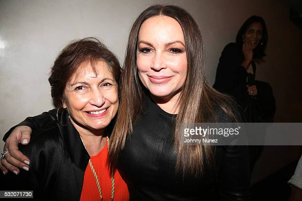 Angie Martinez and mother Shirley Maldonado attend the Angie Martinez 'My Voice A Memoir' Book Launch Party on May 17 2016 in New York City