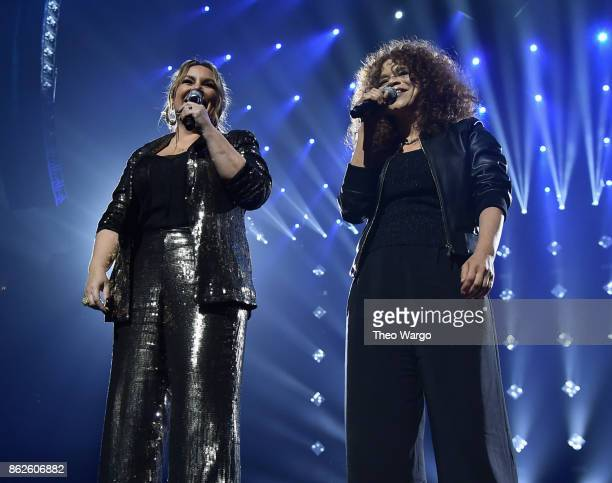 Angie Martinez and Rosie Perez speak onstage during TIDAL X Brooklyn at Barclays Center of Brooklyn on October 17 2017 in New York City