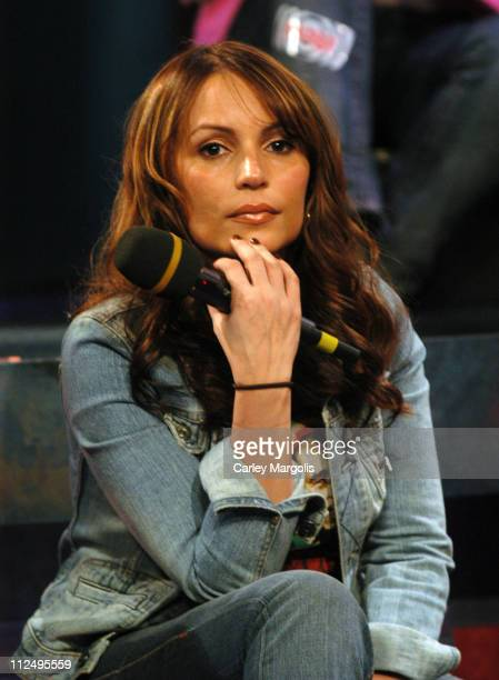 Angie Martinez during Angie Martinez Noreaga and Halifax Visit Fuse's 'Daily Download' April 11 2005 at Fuse Studios in New York City New York United...