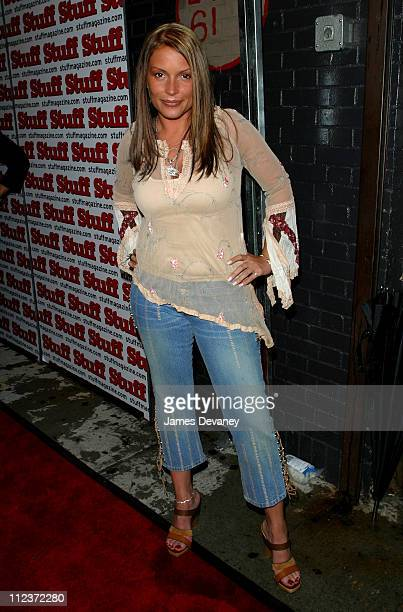 Angie Martinez during Stuff Magazine 2002 MTV VMA PreParty at Lot 61 in New York City New York United States