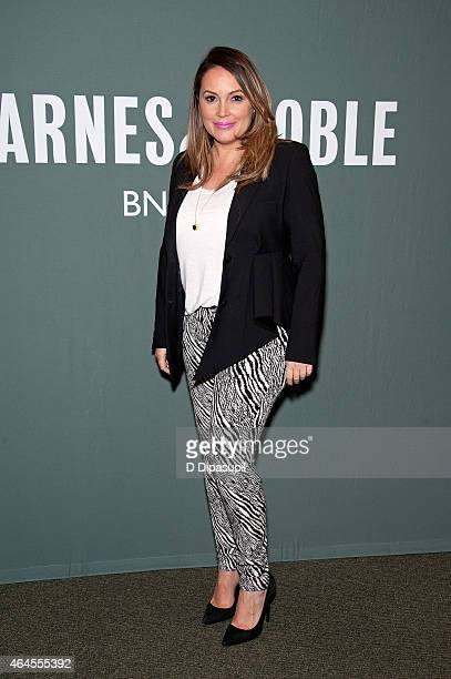 Angie Martinez promotes her book 'Healthy Latin Eating' at Barnes Noble Tribeca on February 26 2015 in New York City