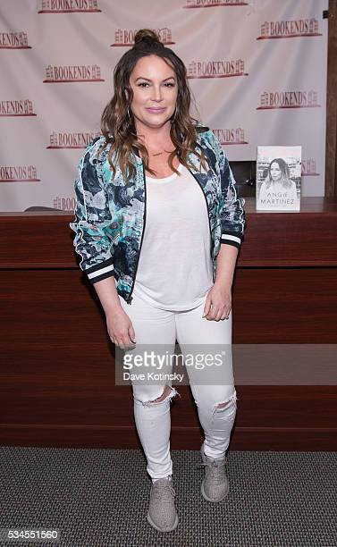 Angie Martinez signs copies of her new book 'The Voice' at Bookends Bookstore on May 26 2016 in Ridgewood New Jersey