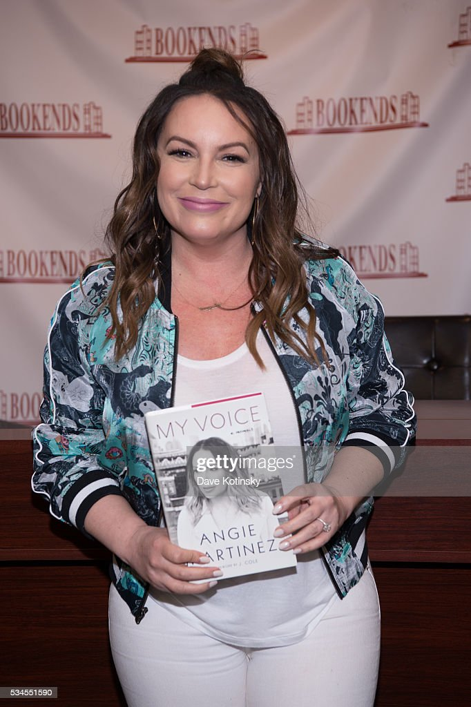 Angie Martinez signs copies of her new book 'The Voice' at Bookends Bookstore on May 26, 2016 in Ridgewood, New Jersey.