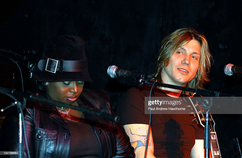 Angie Stone and Johnny Rzeznik during VH1 Songwriters in The Round Generations 2 at China Club in New York City New York United States