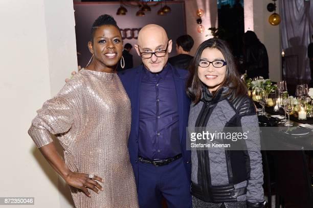 Angie Wells Mathius Gertz and Mako Kamitsuna attend Audi Hosts Opening Night Dinner For AFI Netflix 'Mudbound' at Hollywood Roosevelt Hotel on...