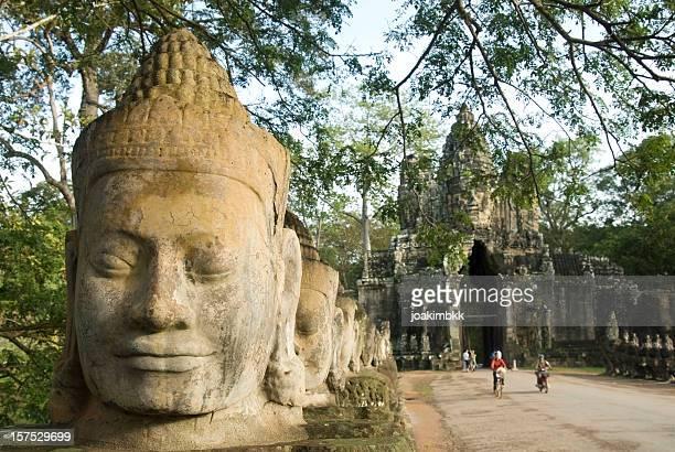 Angkor Thom gate in Angkor Wat in Cambodia