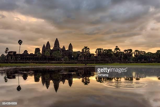 Angkor Wat seen across the lake