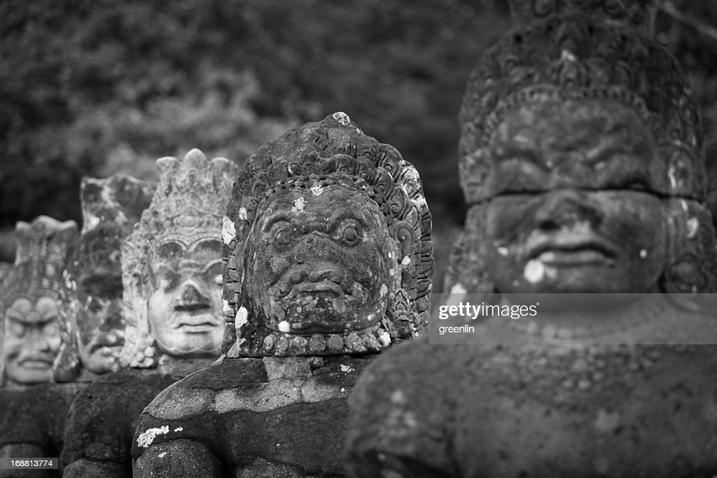 Angkor wat stone carving stock photo getty images