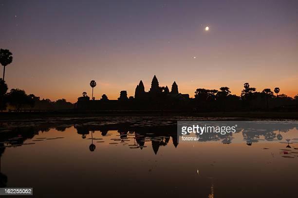 Angkor Wat under moonlight, Cambodia