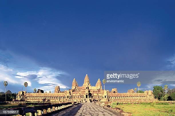 Angkor Wat viewed at sunset.