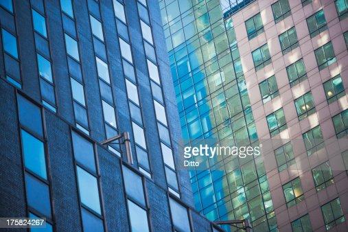 Angled close up of skyscraper