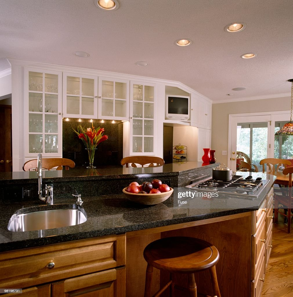 angled kitchen island with sink and stovetop stock photo getty angled kitchen island with sink and stovetop stock photo