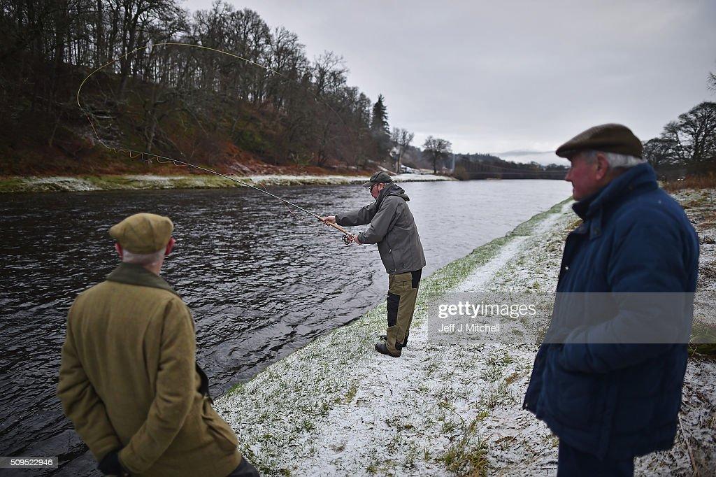 Salmon fishing season begins on the river spey getty images for Salmon fishing season