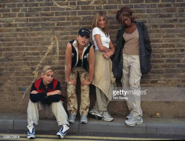 AngloCanadian girl group All Saints circa 1997 Left to right Natalie Appleton Nicole Appleton Melanie Blatt and Shaznay Lewis
