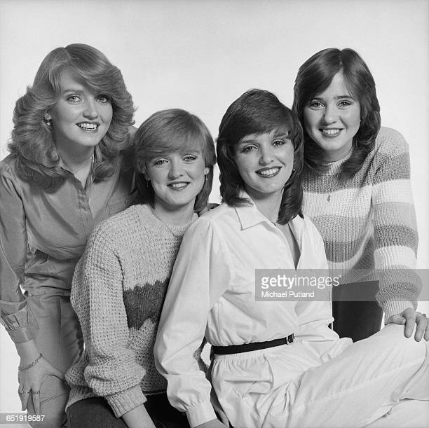 AngloIrish vocal group The Nolans London December 1980 Left to right Linda Bernie Maureen and Coleen Nolan