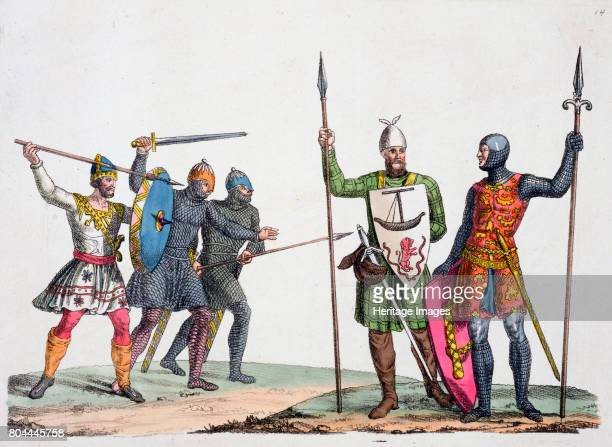 AngloSaxon warriors 19th century Plate 14 from The History of the Nations Artist Unknown