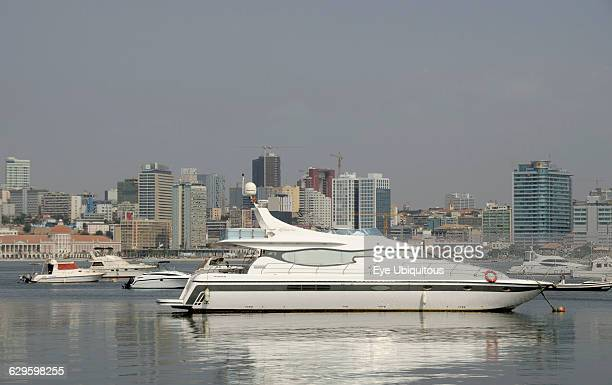 Angola Luanda Luxury yacht with downtown in the background