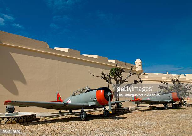 Angola Southern Africa Luanda old army planes in fort san miguel