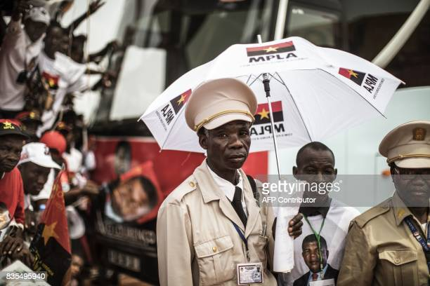 Angolan Chef Coutoumier poses during Angolan President and The People's Movement for the Liberation of Angola President Jose Eduardo dos Santos and...