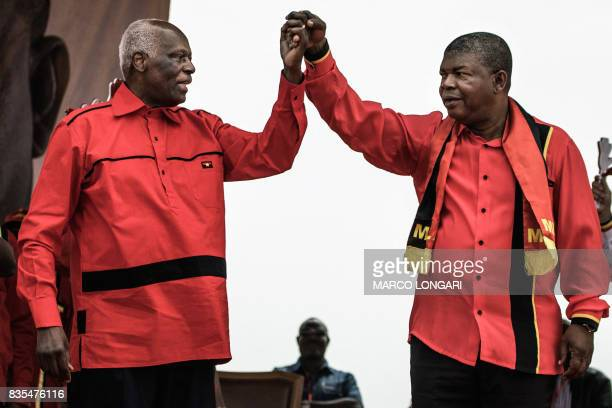Angolan President and The People's Movement for the Liberation of Angola President Jose Eduardo dos Santos and MPLA candidate to the presidency Joao...
