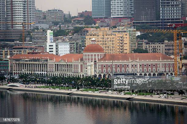 Angola's central bank stands on the promenade in Luanda Angola on Friday Nov 8 2013 Angola the largest crude oil producer in Africa after Nigeria...