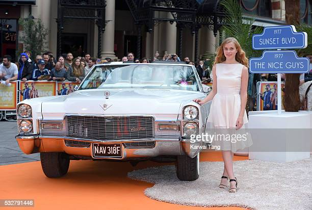 Angourie Rice arrives for the UK Premiere of 'The Nice Guys' at Odeon Leicester Square on May 19 2016 in London England