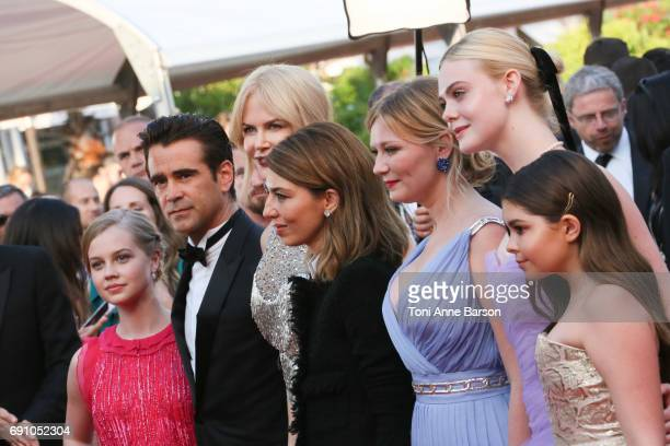 Angourie Rice Colin Farrell Nicole Kidman director Sofia Coppola Kirsten Dunst Elle Fanning and Addison Riecke attend the 'The Beguiled' screening...