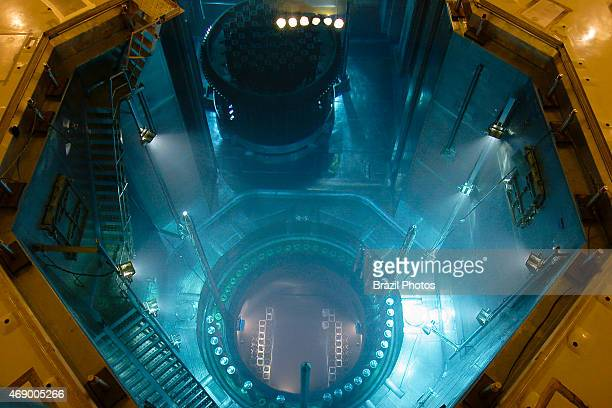 Angra II Nuclear Plant loading nuclear fuel into the nuclear reactor