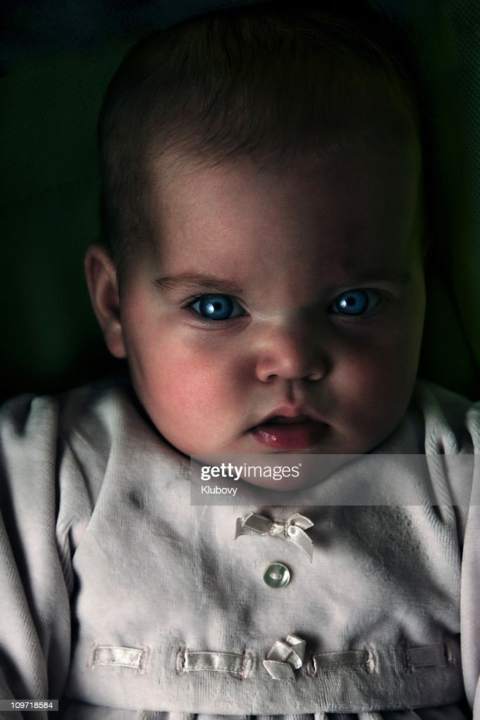 Angry baby : Stock Photo