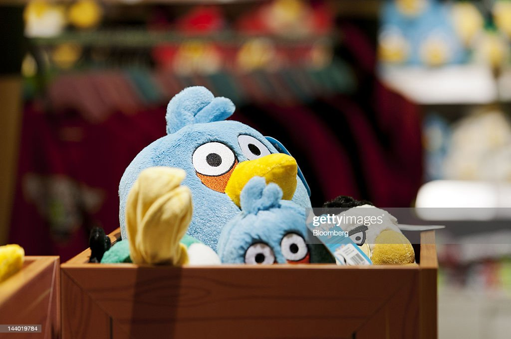 Angry Birds toy merchandise sits for sale at a store in Angry Birds Land, an Angry Birds-themed activity center within the Sarkanniemi adventure park near Tampere, Finland, on Friday, May 4, 2012. Rovio Entertainment Oy reported FY sales of EU75.4m. Photographer: Juho Kuva/Bloomberg via Getty Images
